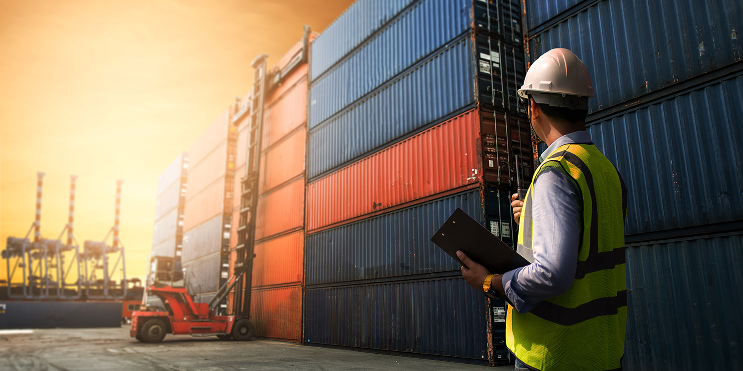 Business logistic concept, import and export concept